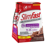 Image of product SlimFast - Advanced Nutrition Meal Replacement Shake, 4 x 20 g, Creamy Chocolate