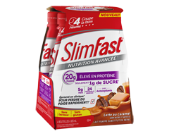 Image of product SlimFast - Advanced Nutrition Meal Replacement Shake, 4 x 20 g, Caramel Latte