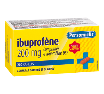 Image of product Personnelle - Ibuprofen Caplets 200 mg, 200 units