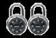 Thumbnail of product Master Lock - 3-Digit Combination Padlock, 2 units
