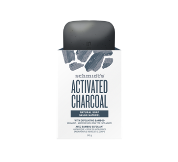 Image of product Schmidt's - Activated Charcoal Natural Soap with Exfoliating Bamboo, 142 g