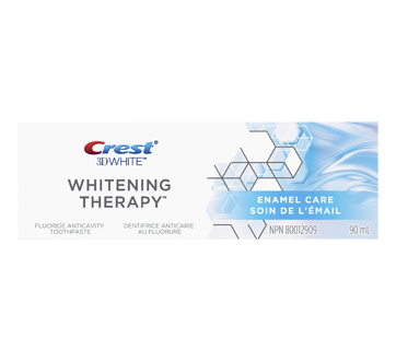 3D White Whitening Therapy Fluoride Toothpaste, 90 ml, Enamel Care