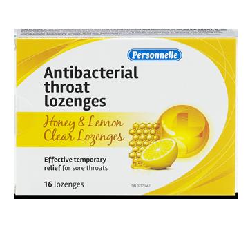 Image of product Personnelle - Antibacterial Throat Lozenges, 16 units, Honey & Lemon