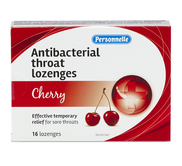Image of product Personnelle - Antibacterial Throat Lozenges, 16 units, Cherry