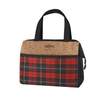 Raya Lunch Box, 1 unit, Red Plaid