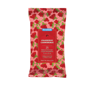 Make-up Remover Wipes Micellar Water, 25 units, Cranberry