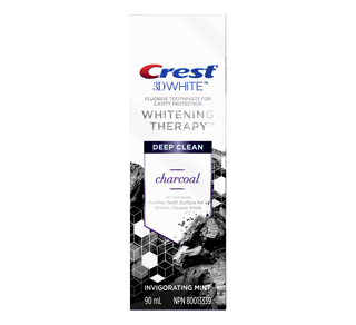 3D White Whitening Therapy Charcoal Deep CleanToothpaste, 90 ml, Invigorating Mint