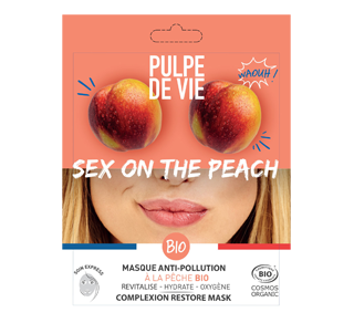 Sex on the Peach Anti-pollution mask with organic peach, 1 unit