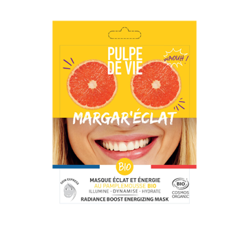 Margar'Éclat Energizing Face Mask with Organic Grapefruit, 1 unit