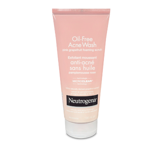 Oil-Free Acne Wash Foaming Scrub, 198 ml, Pink Grapefruit