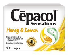 Image of product Cépacol - Sensations Lozenges, 16 units, Honey and Lemon