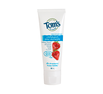 Fluoride-Free Natural Children's Natural Toothpaste, 90 ml, Silly Strawberry