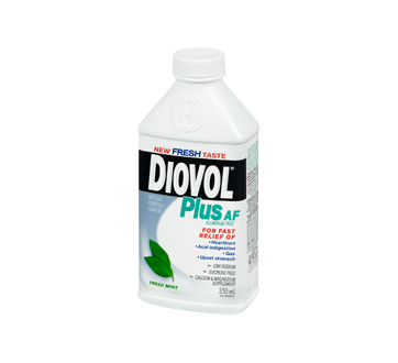 Image 1 of product Diovol - Plus AF Aluminum Free Antiacid Liquid, 350 ml, Fresh Mint