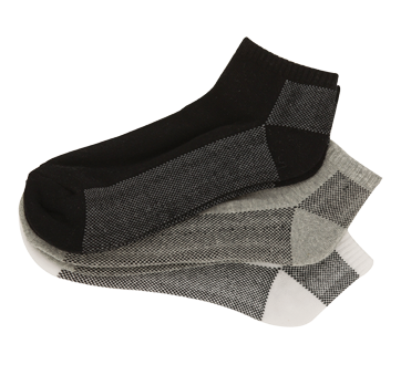Sports Socks for Men Cushion Foot, 3 units, Assorted colors