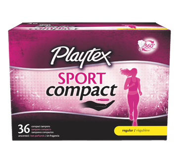 Sport Compact Athletic Tampons, Regular, 36 units