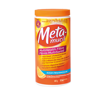 Image of product Metamucil - MutliHealth Fibre, 660 g, Orange