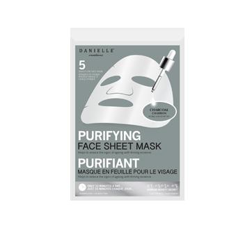 Sheet Masks Charcoal Detox, 5 units