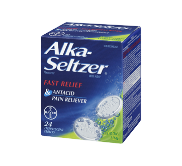 Image 1 of product Alka-Seltzer - Alka-Seltzer Flavoured Caplets, 24 units, Lemon and Lime