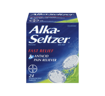 Image 3 of product Alka-Seltzer - Alka-Seltzer Flavoured Caplets, 24 units, Lemon and Lime