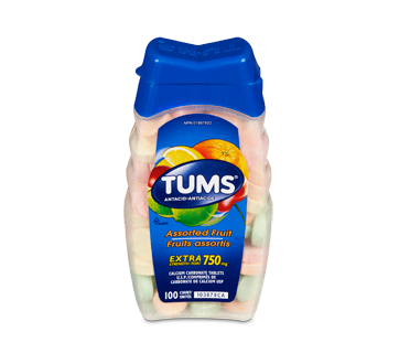 Image of product Tums - Tums Extra Strength, 100 units, Fruit