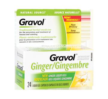 Image of product Gravol - Liquid Gel Capsules, 24 units, Ginger