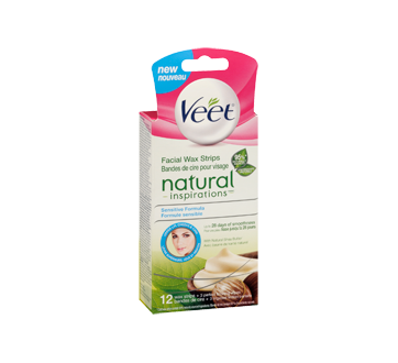 Image 2 of product Veet - Natural Inspirations Precision Wax Strips Face, 14 units