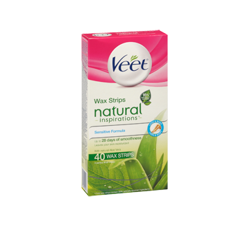 Image 2 of product Veet - Natural Inspirations Wax Strips Legs & Body wipes, 44 units