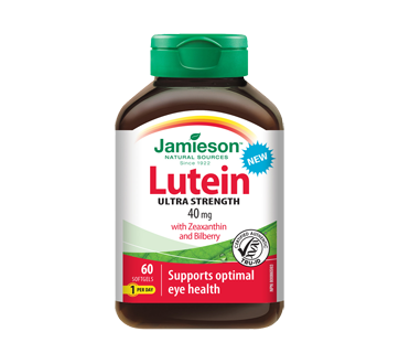 Image of product Jamieson - Lutein with Zeaxanthin & Bilberry, 60 units