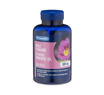 Image of product Personnelle - Evening Primrose Oil, Softgels 500 mg, 300 units