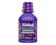 Image of product Vicks - ZzzQuil Nighttime Sleep-Aid Liquid, 177 ml, Berry