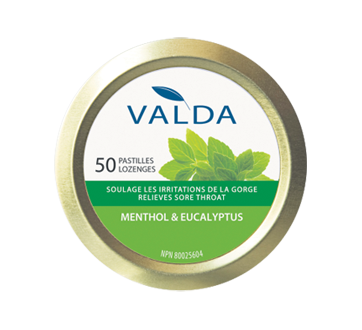 Image 1 of product Valda - Cough Lozenges, 50 units, Menthol & Eucalyptus