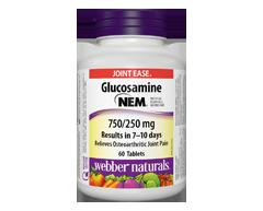 Image of product Webber - Glucosamine with Nem 750/250 mg , 60 units