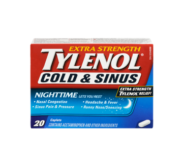 Image 3 of product Tylenol - Tylenol Cold & Sinus Extra Strength Nighttime Formula, 20 units