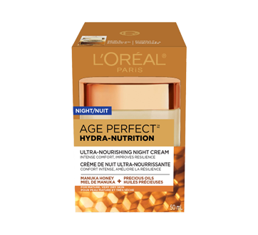 Age Perfect Hydra-Nutrition Ultra-Nourishing Night Face Cream, for Mature, Very Dry Skin, Anti-Aging, 50 ml, Manuka Honey + Precious Oils