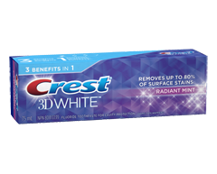 Image of product Crest - 3D White Whitening Toothpaste, 75 ml, Radiant Mint