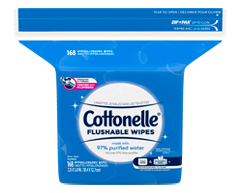 Image of product Cottonelle - Fresh Care Flushable Cleansing Cloths Refill, 168 units