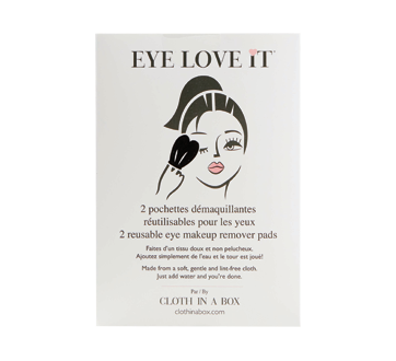Eye Love It Reusable Eye Makeup Remover Pads, 2 units