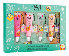 Image of product S&M - Lip Glosses & Charms, 4 x 12 ml