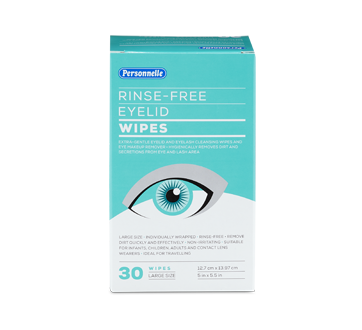 Image of product Personnelle - Rinse-Free Eyelid Wipes, 30 units
