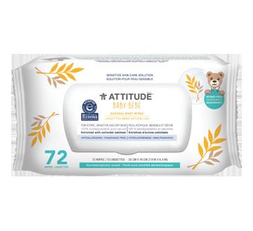 Sensitive Skin Natural Baby Wipes, 72 units, Fragrance-free