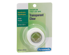 Image of product Personnelle - First Aid Tape Clear, 7.5 cm x 9 m
