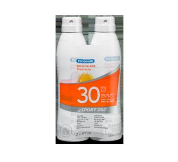 Sunscreen SPF30, 2 x 177 ml, Fresh scent