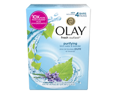 Image of product Olay - Fresh Outlast Purifying Birch Water & Lavender Beauty Bar, 4 units