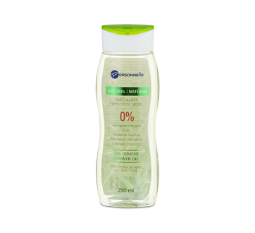 Natural 0% Shower Gel, 250 ml