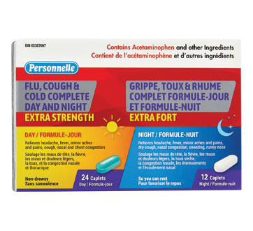 Image of product Personnelle - Flu, Cough & Cold Complete Day and Night Extra Strength, 24 + 12 units
