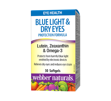 Image of product Webber Naturals - Blue Light & Dry Eyes Protection Formula, Softgels, 30 units
