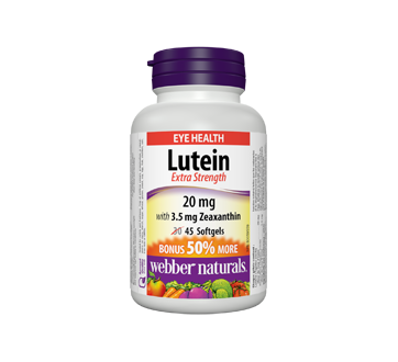 Image of product Webber Naturals - Lutein Extra Strength Softgels, 20 mg, 30 units