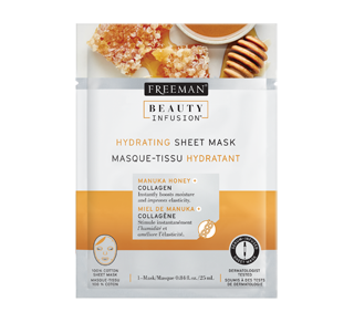 Hydrating Sheet Mask, 25 ml, Manuka Honey and Collagen