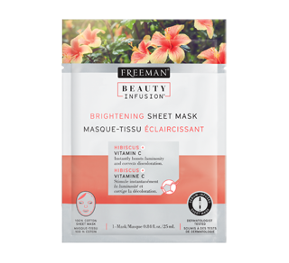Brightening Sheet Mask, 25 ml, Hibiscus and Vitamin C