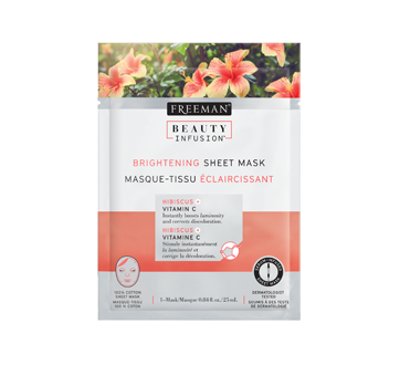 Image of product Freeman Beauty Infusion - Brightening Sheet Mask, 25 ml, Hibiscus and Vitamin C